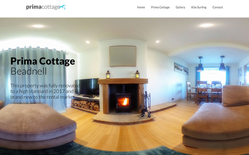 Prima Cottage Single Page Website Screen