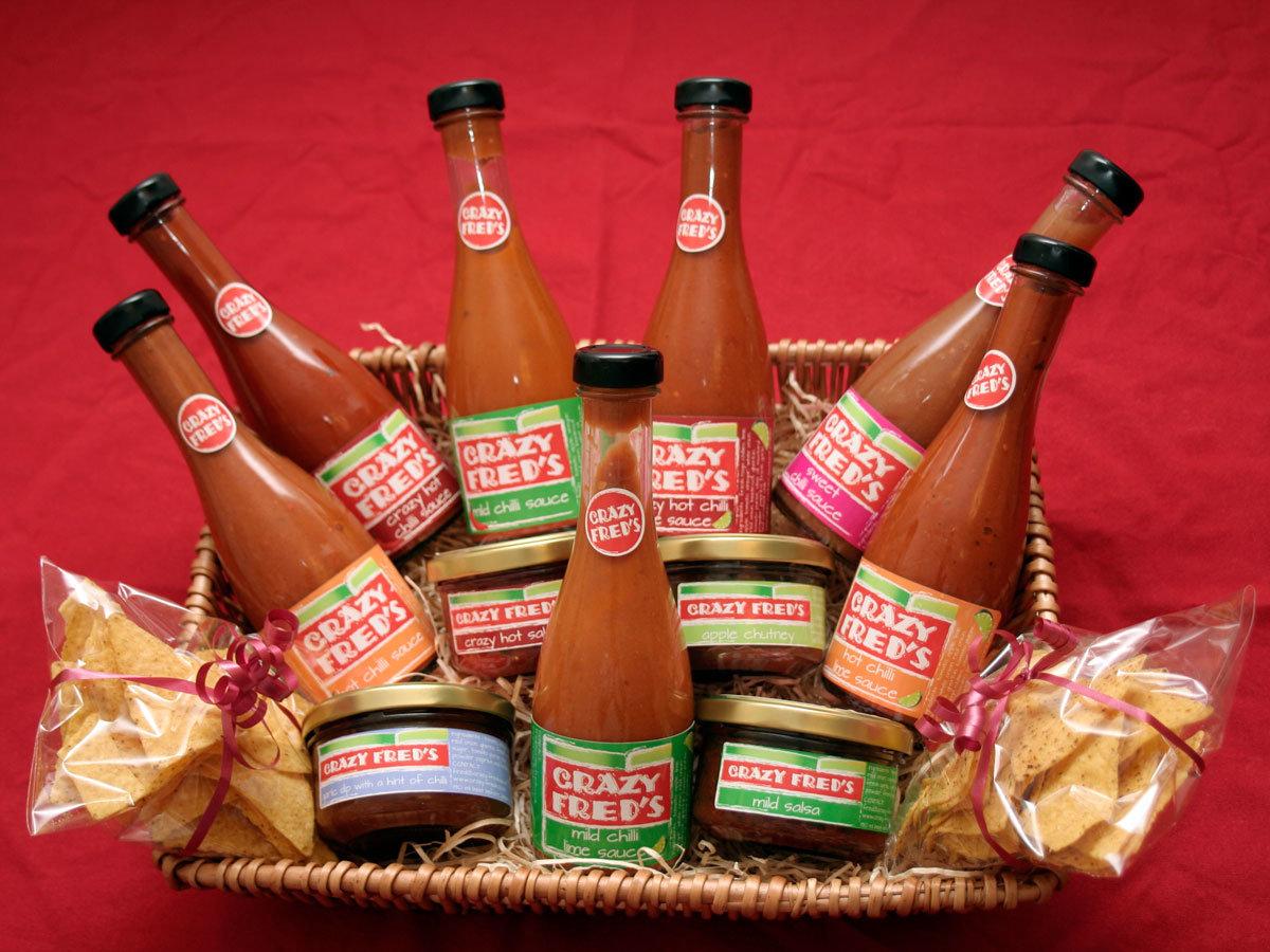 Crazy Fred's bottle labels
