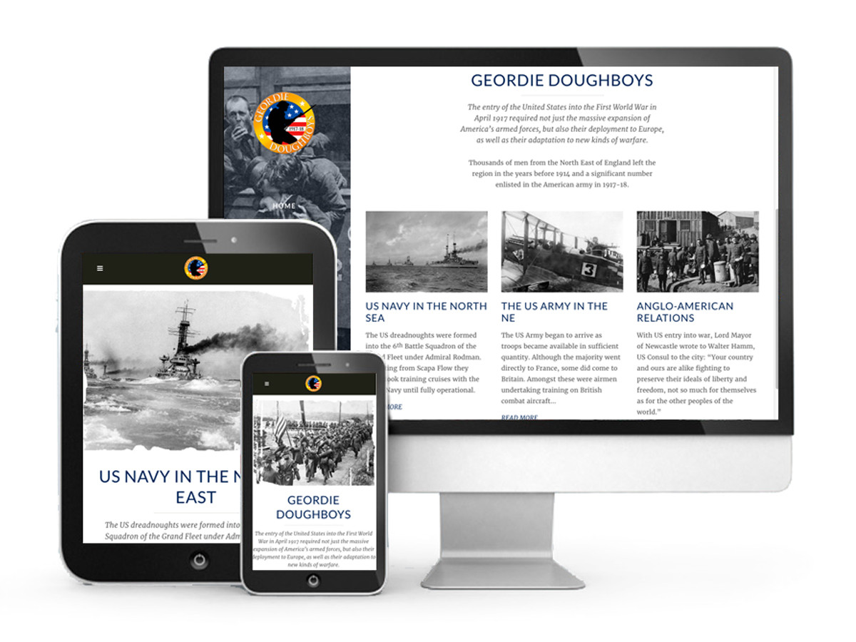 Geordie Doughboys website