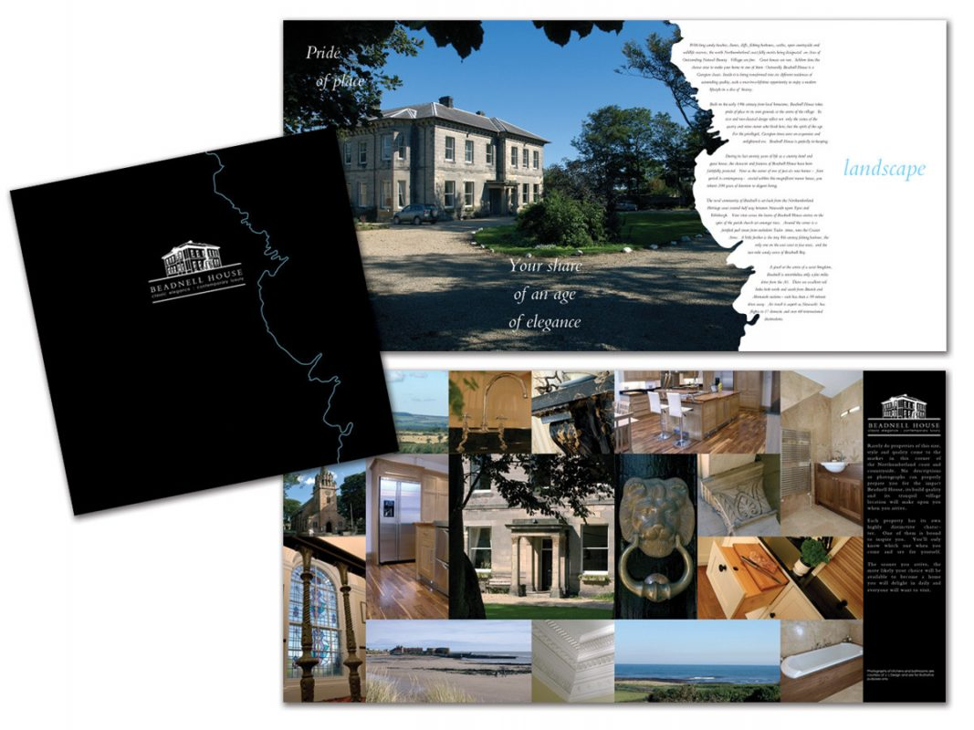 Print Design Beadnell House Brochure