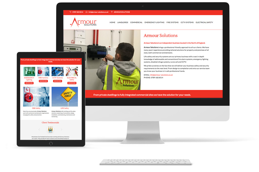 Armour Solutions Responsive Website