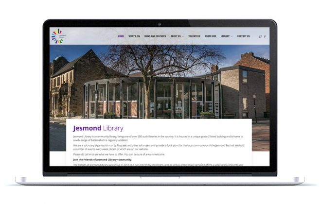 Jesmond Library Wordpress Website