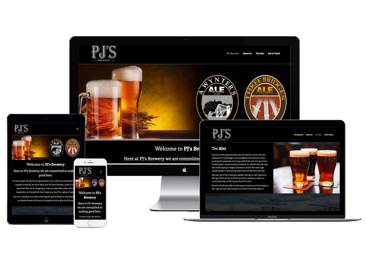 Small Business Website - PJs Brewery