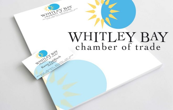 Whitley Bay Chamber of Trade logo and stationery