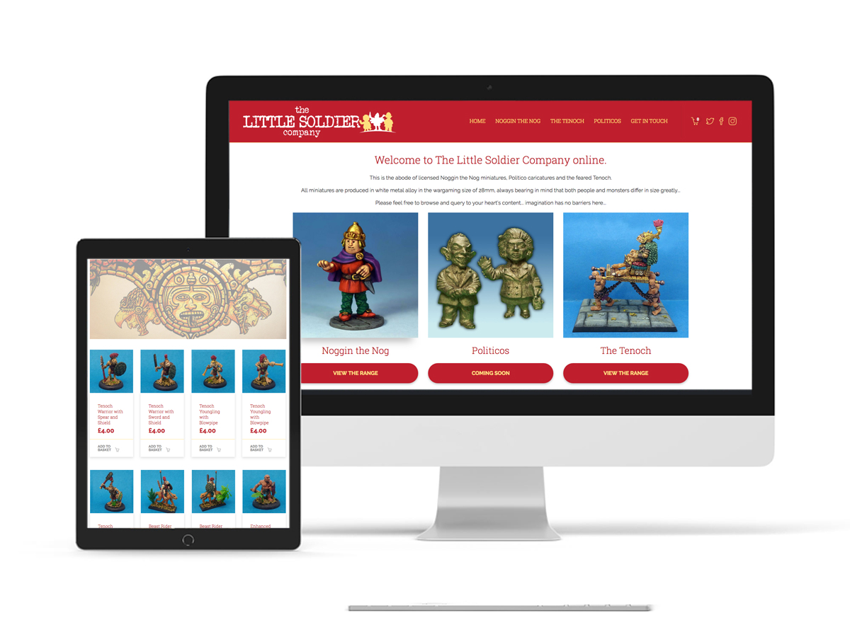 E-Commerce website design for the Little Soldier Company