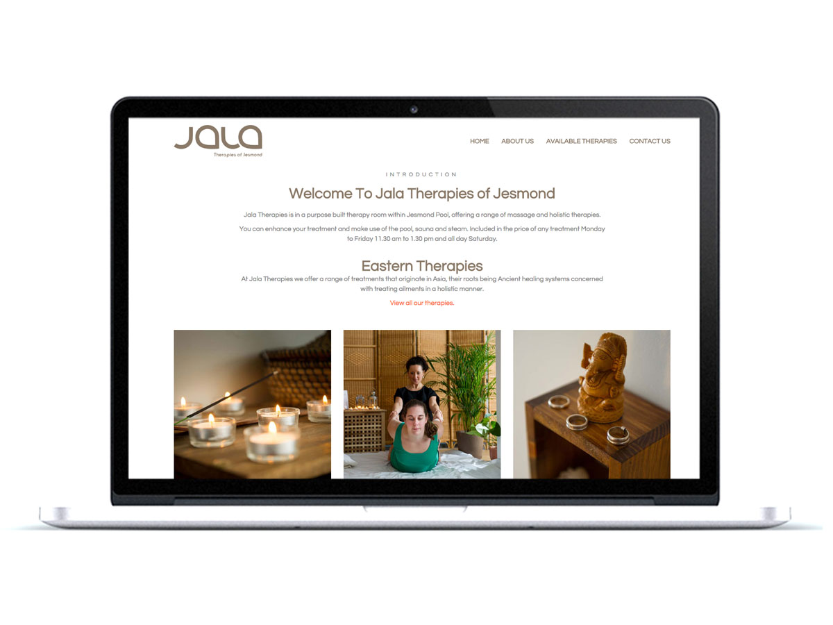 Jala Therapies Small Business Website