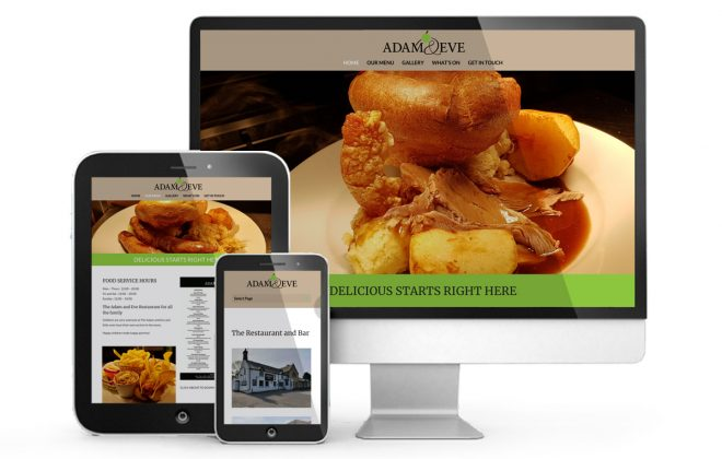 The Afam and Eve Restaurant Webscreens