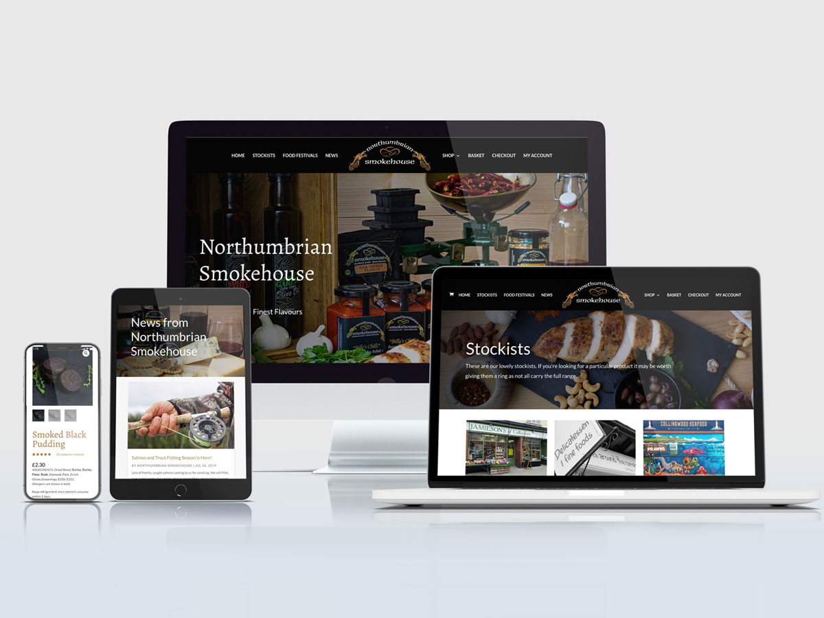 Northumbrian Smokehouse wordpress e-commerce website