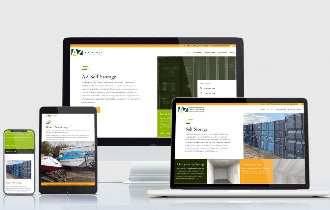 Wordpress Website AZ Storage North Shields