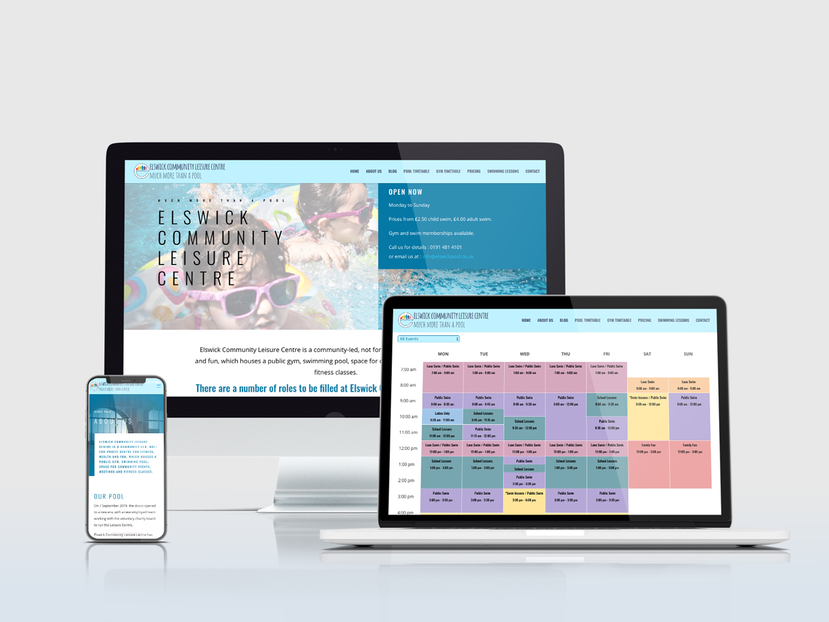 Wordpress Website Design Elswick Pool