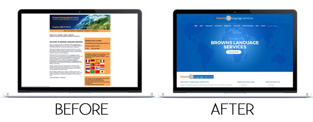 Website Redesign Services - Before and After