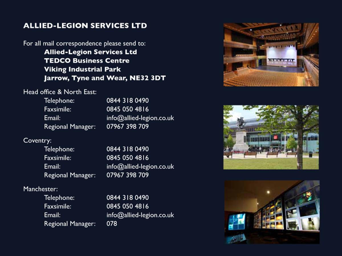 Corporate Brochure Design Allied Legion Security