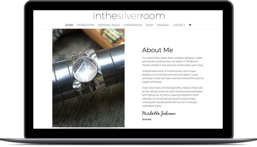 Ecommerce website design In the Silverroom
