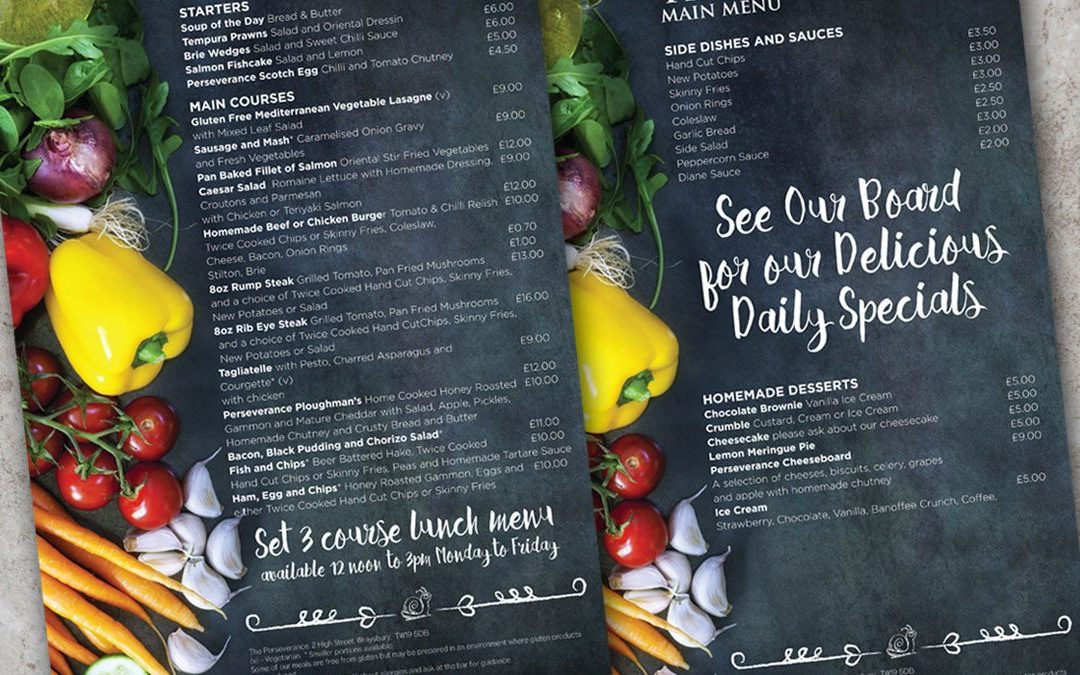 Restaurant and Takeaway Menu Design