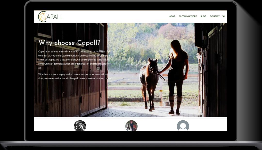 E-Commerce website design Capall Equestrian