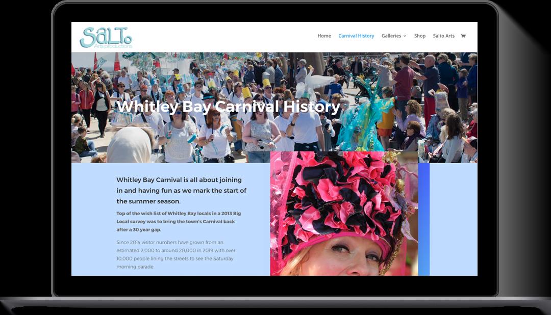 Whitley Bay Carnival WordPress Website Design