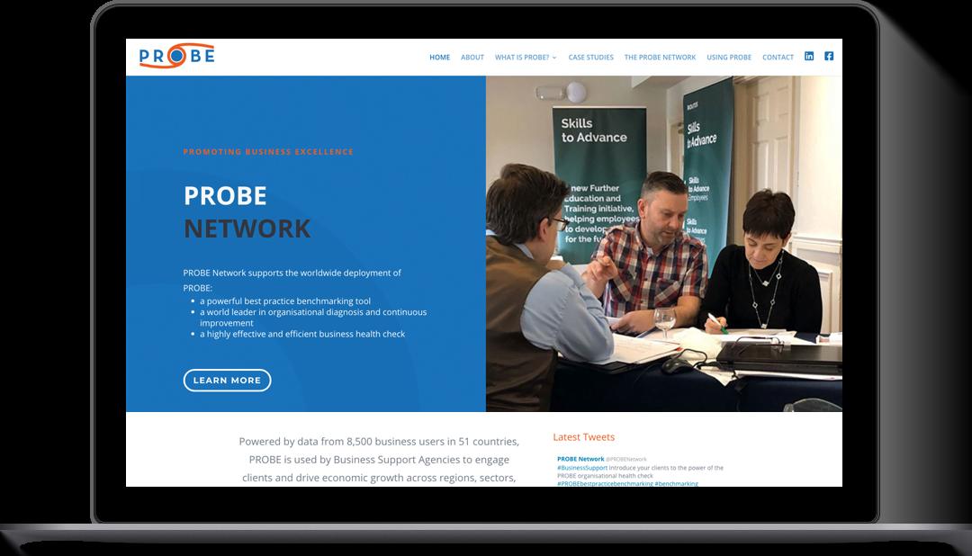 wordpress website design probe network newcastle