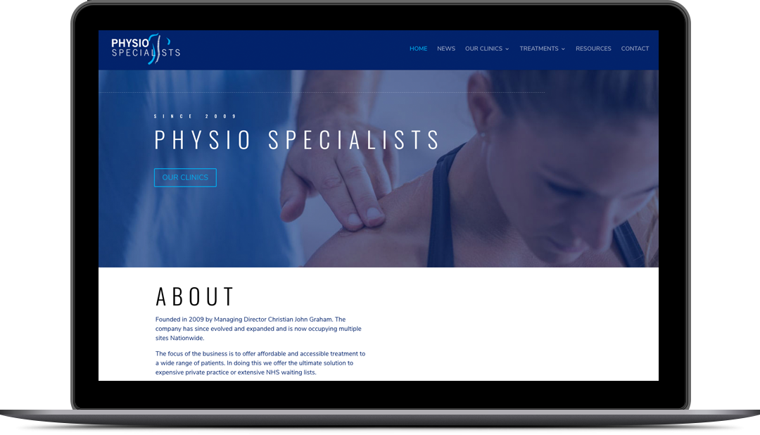 Physio Specialists Newcastle Website Design