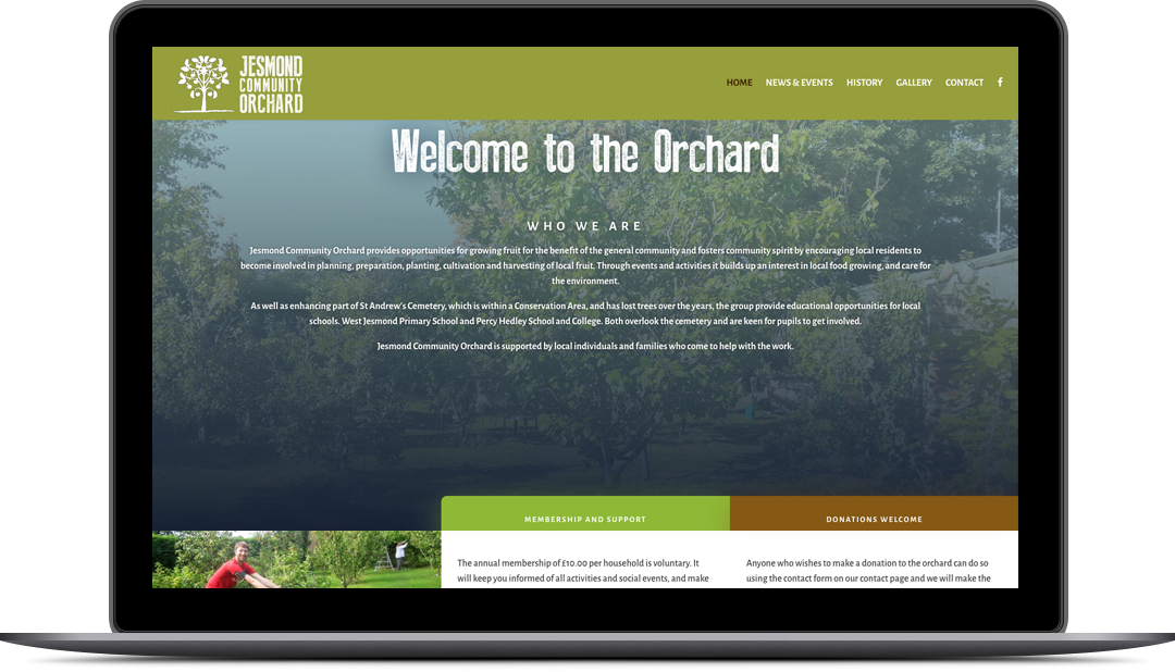 Jesmond Community Orchard Web Screen