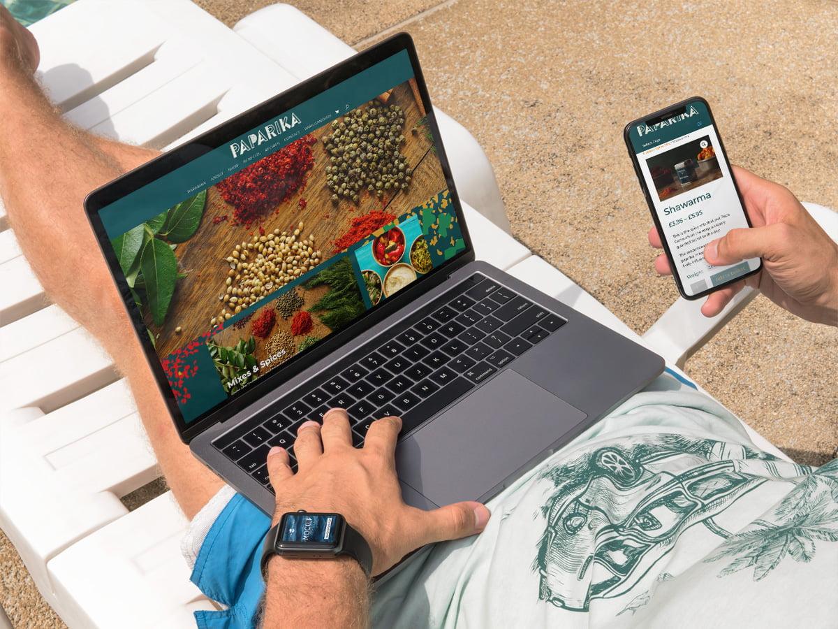 Paparika Responsive Website Design