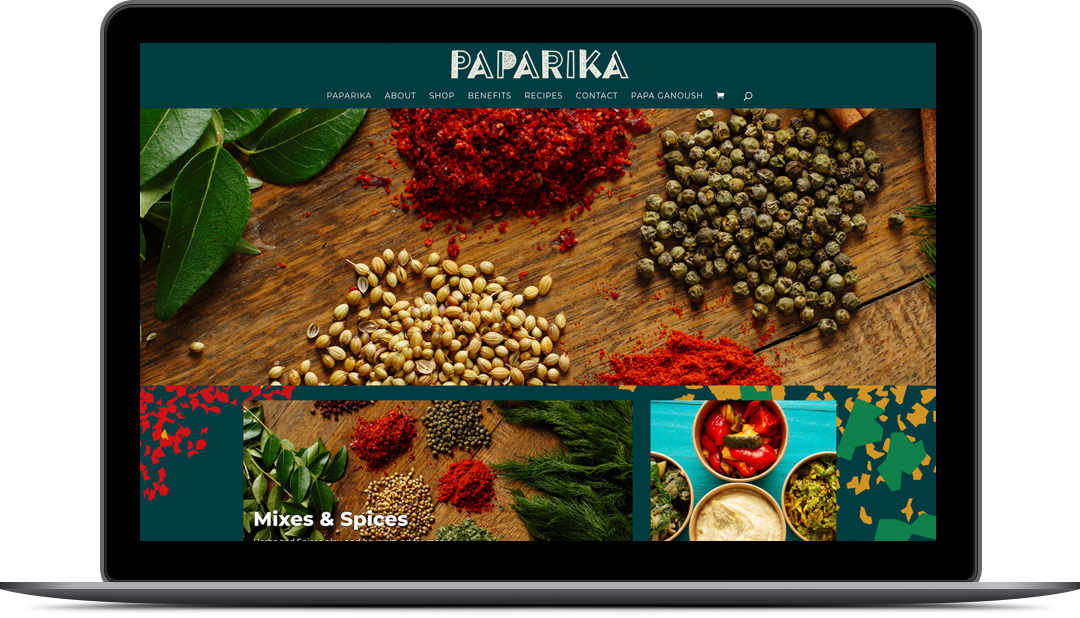 Paparika E-commerce Website Design