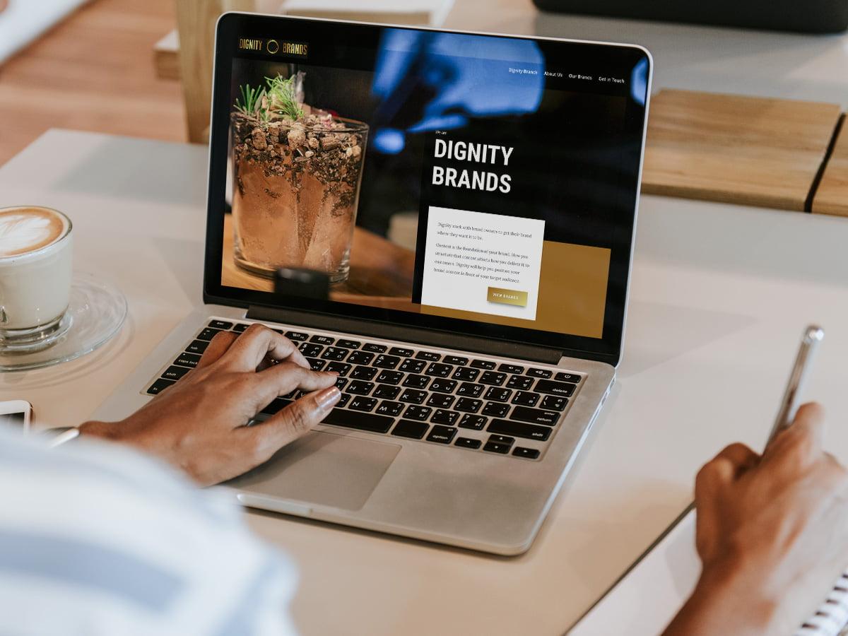 Dignity Brands WordPress Website Design Screen